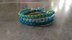 Check out this item in my Etsy shop https://www.etsy.com/listing/225612177/tropical-hemp-bracelet-three-in-one