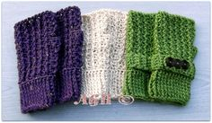 Rustic Ribbed free crochet pattern - Free Fingerless Gloves Patterns- The Lavender Chair