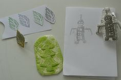 Making Stamps from Rubbish (why don't Americans use that word!?  I love it!) - a tutorial.