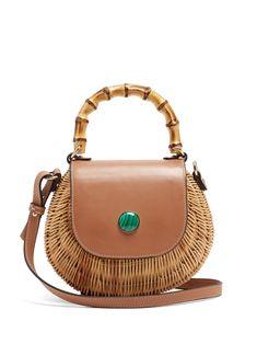 Marina bamboo-handle woven-rattan bag | Wai Wai | MATCHESFASHION.COM