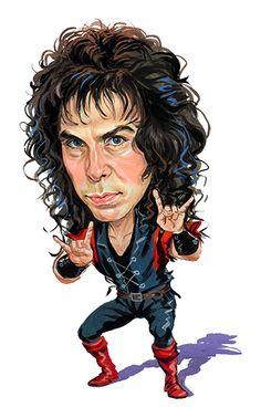 Ronnie James Dio (1942-2010) R.I.P.  Dio, Black Sabbath, Rainbow, Elf ....artwork by www.ExaggerArt.com