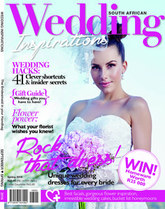 The gorgeous Spring 2016 Wedding Inspirations cover.