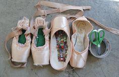 Boston Ballet principal Lia Cirio's shoes (Lauren Pajer, courtesy Boston Ballet)