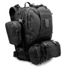 VVV Gear Paratus 3 Day Operator's Pack (Black) : Tactical Backpacks