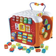 The Alphabet Activity Cube by VTech® is five sides of endless learning fun! One of VTech's top-rated infant and preschool learning toys, the Alphabet Activity Cube . Teaching The Alphabet, Alphabet Activities, Activities For Kids, Interactive Learning, Learning Toys, Toddler Toys, Kids Toys, Toddler Music, Infant Toddler