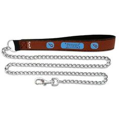 Tennessee Titans Football Leather 3.5mm Chain Leash - L