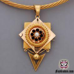 Antique Victorian Etruscan Necklace