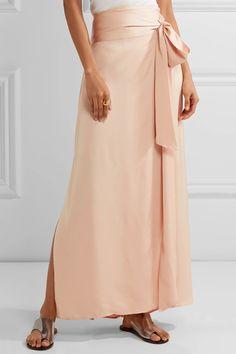Elizabeth and James | Almeria satin wrap maxi skirt | NET-A-PORTER.COM