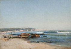 """Marius Reynaud """"La baie d'Alger"""" 1892. Marius Gustave Reynaud né à Marseille en 1860, mort à Alger en 1935, et devenu un grand peintre Algérois connu pour ses peintures sur le port d'Alger et l'Amirauté."""