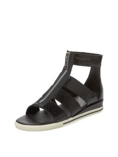 Gia Embossed Leather Zip Sandal from Marc by Marc Jacobs Shoes on Gilt