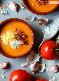 Gazpacho, Veggie Recipes, Gourmet Recipes, Real Food Recipes, Vegetarian Recipes, Tapas Recipes, Love Food, A Food, Food And Drink