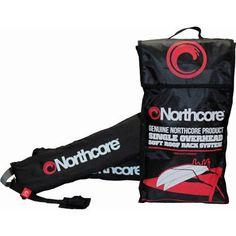 Northcore Single Overhead Soft Unisex Surf Gear Surfboard Rack - Black One Size