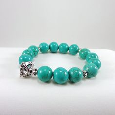 Magnesite Bracelet by angelovajewelry on Etsy