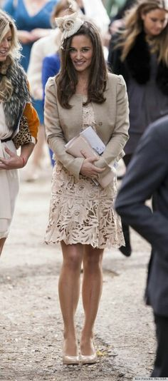 2012 - Pippa and her Family attend the wedding of a friend