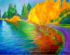 Oil painting. Greenlake