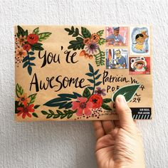 Yes, YOU! ☺️ . . #youareawesome #floral #happymail #write #handwritten #handwrittenwordsarethebest #draw #doodle #handdrawn #handpainted…