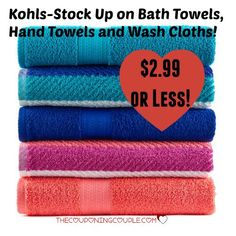 Kohls Bath Towels Brilliant Kohls Stock Up On The Big One Bath Towels Hand Towels Wash Cloths 2018