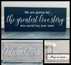 Give your significant other a beautiful custom wood sign to celebrate your anniversary this year! Add your names, a memorable date or special song lyrics to a wood sign you can both see & enjoy everyday. #anniversary #anniversarygifts #anniversarygiftideasforhim #weddinganniversary #5thanniversary #weddinganniversarygifts #lovesongs #giftsforhim #giftideas #giftforher #anniversaryparties Anniversary Parties, Wedding Anniversary Gifts, Customized Gifts, Personalized Gifts, Custom Wood Signs, Handmade Items, Handmade Gifts, Handmade Decorations, Song Lyrics