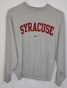 Nike Team SYRACUSE Embroidered Mens Grey Long Sleeve Sweatshirt Small S #Nike…