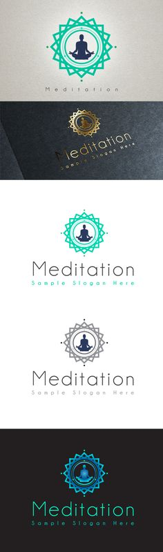 Meditation Logo by Afanur Rashid, via Behance