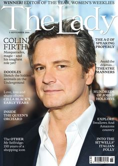 ❤️ Colin Firth cover star of The Lady Magazine September 2014 ❤️