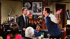 """When you watch the final scene of Ted standing outside Robin's apartment holding the blue french horn you felt like Barney when he got his third slap. 