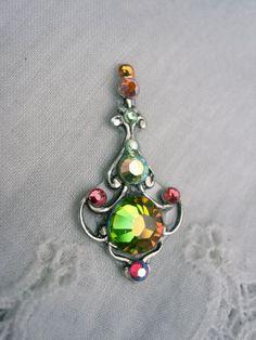 Gates of Magic Bindi  swarovski belly dance crystal by KuhlJewels, $15.00