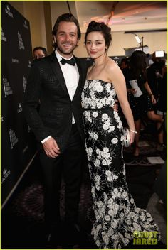Darren McMullen and Crystal Reed - Costume Designers Guild Awards in Hollywood.  (February 2014)