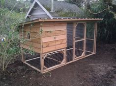 funky chicken coops pinterest | chicken coups | Mini Combo – $645 3 1/2′ x 7′ x 4 1/2′ tall ...