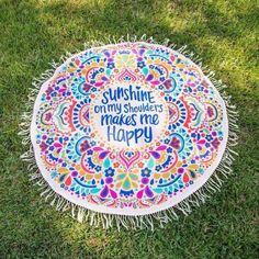 Bohemian Round beach blanket, Mandala Tapestry Hippie Boho Beach mat, Throw Towel Mat Blanket with picnic,Doormat - Walmart.com