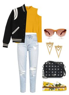 """""""Sporty #329"""" by thereseatarwang ❤ liked on Polyvore featuring Dolce&Gabbana, Yves Saint Laurent, Alexander Wang and The Row"""