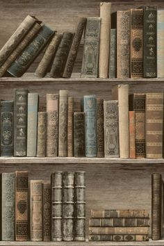 Get the steampunk look with an antique library wallpaper design. - Get the steampunk look with an antique library wallpaper design. Old Books, Antique Books, Vintage Books, Book Wallpaper, Wallpaper Direct, Reading Wallpaper, Room Wallpaper Designs, Dream Library, Library Books
