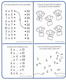 APOYO ESCOLAR ING MASCHWITZT CONTACTO TELEF 011-15-37910372: LAS TABLAS DE MULTIPLICAR (CON ACTIVIDADES) Math Practice Worksheets, Math Coloring Worksheets, Math Sheets, Math Multiplication, Primary Maths, Math Practices, 3rd Grade Math, Math For Kids, Math Lessons