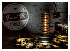 """""""Rusty Springer"""" - hand made Vintage Industrial table lamp"""