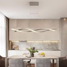 Modern LED Chandelier Dining Room Ceiling Light Acrylic Pendant Light Fix Modern Dining Room Lighting, Dining Room Ceiling Lights, Farmhouse Kitchen Lighting, Kitchen Pendant Lighting, Led Pendant Lights, Led Chandelier, Pendant Light Fixtures, Modern Chandelier, Room Lights