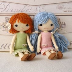 sweet felt dolls and website for very cute dolls and animals - patterns available on etsy