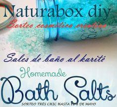 TRèS ChIC.: SORTEO CON Naturabox Diy - Sales de baño al Karité.