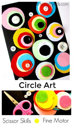 Arty Crafty Kids - Play - Scissor Skills - Fine Motor Circle Art