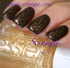 Essie As Gold as it Gets (over brown)
