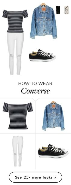 """Sans titre #950"" by stalialightwood on Polyvore featuring River Island, Levi's, Converse, Marc Jacobs and Miss Selfridge"