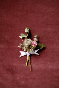 Fall Wedding Boutonniere.