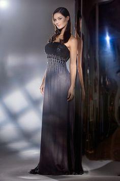 cda944dc8cf3 Marsil Alta Moda   Sposa · Marsil Haute Couture Collection · Dress  evening  gowns in grey and black.Abito da sera in chiffon in seta