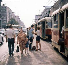 Warsaw, Al. Jerozolimskie, 1960's, fot. J. Michalski