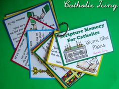 scripture memory cards from the Catholic Mass