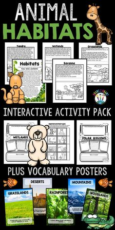 Learning about Habitats has never been so much fun! In this pack you'll find 10 passages with scenes for students to color and connect to the information and custom organizers for each habitat. Preschool Science, Elementary Science, Science Classroom, Teaching Science, Science Activities, Writing Activities, Science Curriculum, Science Resources, Second Grade Science