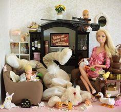 Barbie with dead rabbit