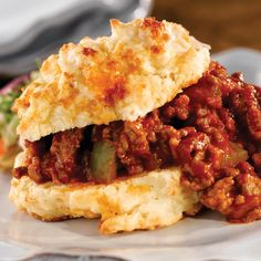 Sloppy Joe on Cheddar Cheese Biscuits from Martha White®