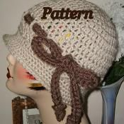1920's Style Cloche Flapper Hat w/Bow - via @Craftsy