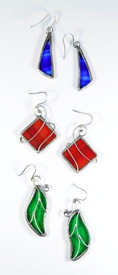 Stained glass earrings, handmade earrings, handmade jewelry, boho jewelry, unique gift #stainedglass #earrings #handmadejewelry #uniquegift #stainedglassearrings #bohoearrings