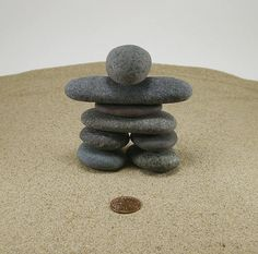 Your place to buy and sell all things handmade Pebble Stone, Pebble Art, Stone Art, Stone Sculptures, Rock Sculpture, Zen Rock, Rock Art, Canada Day Crafts, Stone Cairns